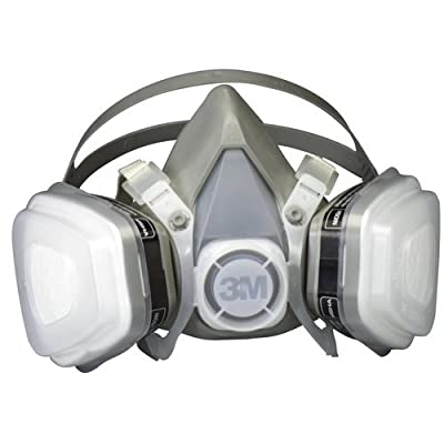 3M 52P71PC1-B Low Profile Lightweight Paint Respirator,