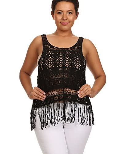 C.O.C. Plus Women's Fringed Crochet Tank