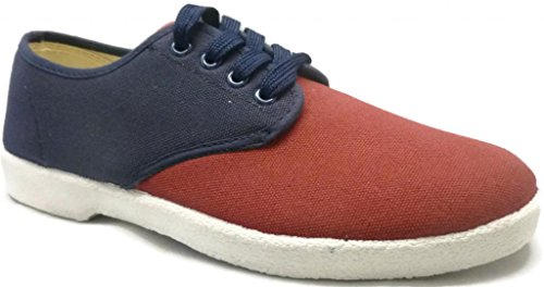 Zig Zag Mens Red/Navy Two-Tone Canvas Wino 10 M Us