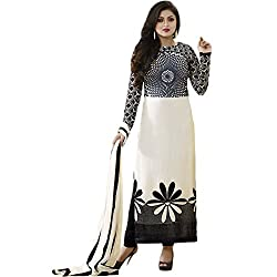 Latest Wize Stylish And Elegant Georgette Embroidered Dress Material with Plazzo Style