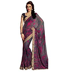 radhika georgette saree with unstiched blouse rs_17960_grey