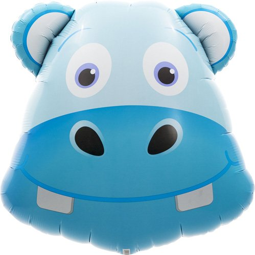 Hippo Head Helium Foil Balloon - 28 inch