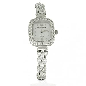bling jewelry designer inspired sterling silver marquise classic cz square deco watch
