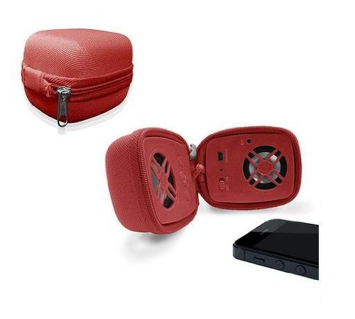 Urge Basics Travel Bluetooth Speaker With Built In Microphone (Red)