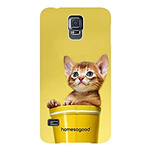 HomeSoGood Unlimited Cuteness Yellow For Samsung S5 ( Back Cover)