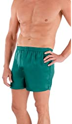 Men's 100% Silk Dress Boxers (The Board Room) Luxury Underwear by TexereSilk