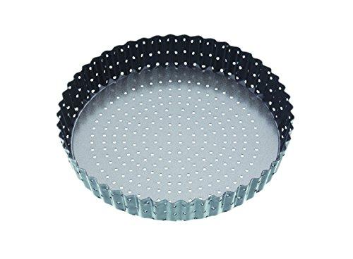 Master Class Moule à quiche/tarte circulaire et cannelé Revêtement antiadhésif Gris 20 cm
