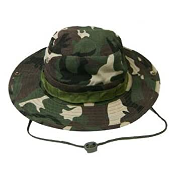 Groundskeeper carl spackler bucket hat camouflage for Fishing caddy bucket