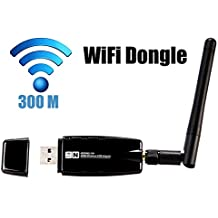 Inamax 300Mbps Wireless N USB Network Adapter WIFI Dongle For PC With Windows XP/ Vista/7/8/8.1/10, Linux, Mac OS