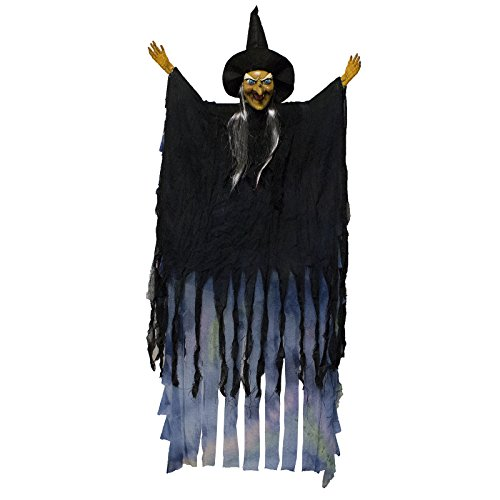 Scary Flashing Laughing Light up Hanging Witch