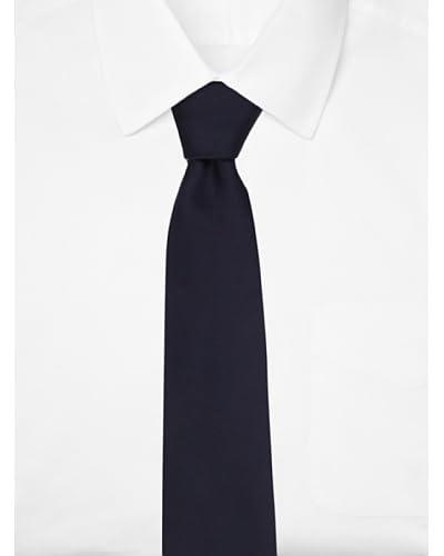 Giorgio Armani Men's Solid Silk Tie  [Dark Blue]