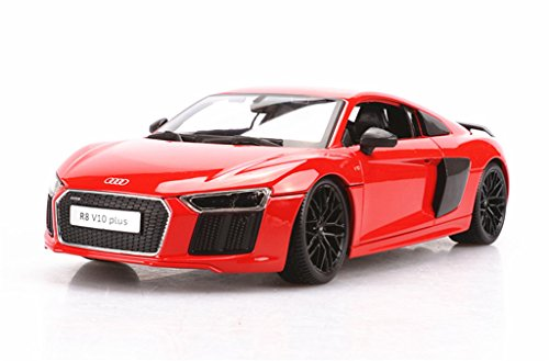 1:18 Maisto Audi R8 V10 Plus Orange Red Diecast Model Car Vehicle New in Box (Audi R8 Model Car compare prices)