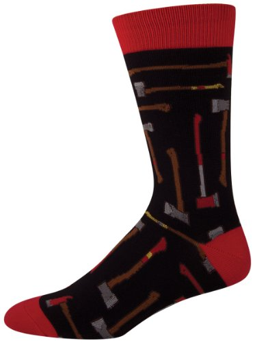 Socksmith Men's Axe Man Crew Socks in Black