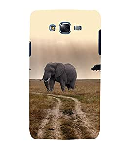 printtech Nature Animal Elephant Back Case Cover for Samsung Galaxy J1 (2016) / Versions: J120F (Global); Galaxy Express 3 J120A (AT&T); J120H, J120M, J120M, J120T Also known as Samsung Galaxy J1 (2016) Duos with dual-SIM card slots