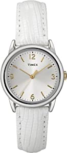 Timex Women's T2P1209J Analog Display Analog Quartz White Watch