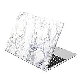 White Marble Pattern Macbook 12\