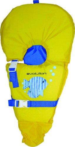 Infant Baby Life Jacket Vest Yellow / Blue Fish 0-30 Lb Babysafe