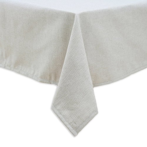 Chooty & Co. Chooty And Co. Victory Lane River Rock Mitered Border Tablecloth In Linen Natural, Brown, 45% Rayon, 60 X 90
