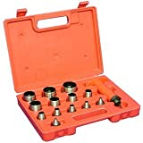 """Anytime Tools 13 pc SHARP HOLLOW PUNCH TOOL SET for LEATHER & GASKET 3/16"""" - 1-1/4"""""""