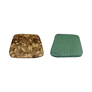 Courtyard Creations PAS040A-GD Thin Cushion Seat Pad, 16.55 by 16.55 by 1.97-Inch