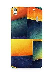 Amez designer printed 3d premium high quality back case cover for Lenovo K3 Note (Colorful Cube Lines Corner)