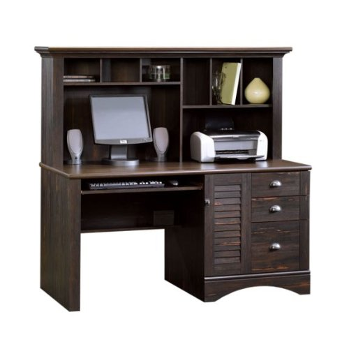 Buy Low Price Comfortable Harbor View Computer Desk with Hutch in Antiqued Paint (B003UIS4CU)