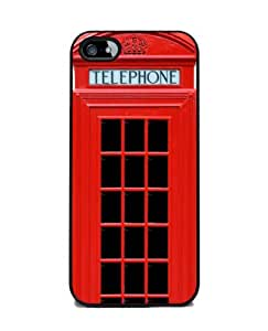 Red British Phone Booth - iPhone 5 Cover, Cell Phone Case - Black