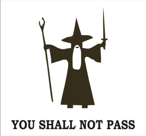 You Shall Not Pass Gandalf Vinyl Decal Sticker (Includes Squeegee)-Red