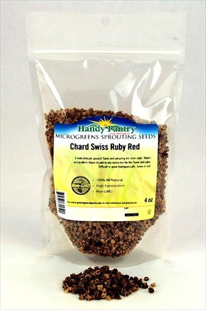 Ruby Red Swiss Chard Seeds - 4 Oz. Resealable Bag - Use for Indoor Gardening, Growing Microgreens & More   Micro Greens Salad Garden