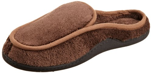 Cheap Isotoner Men's Microterry Clog Slipper (A90515 BK1)