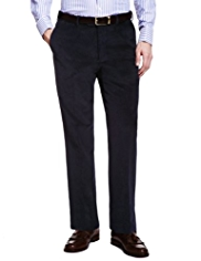 Sartorial Winter Weight Cotton Rich Flat Front Corduroy Trousers