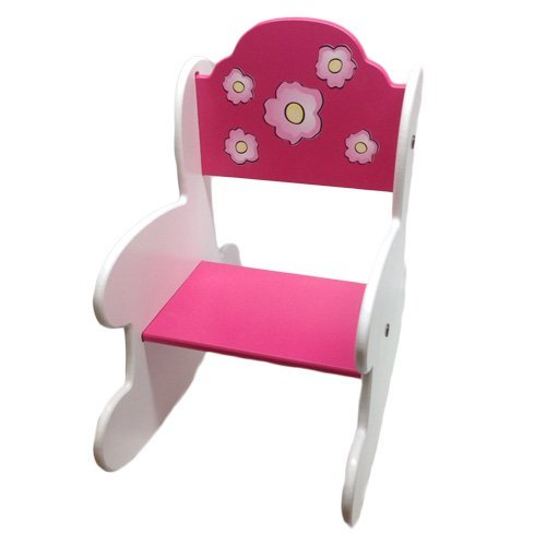aBaby Pink and Poesies Toddler Size Rocking Chair