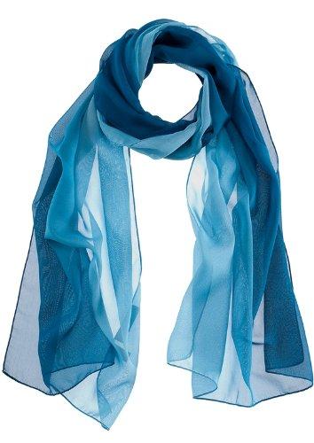 PASSIGATTI - Sciarpa, donna, Blu (Blau (marine 2)), Taglia unica