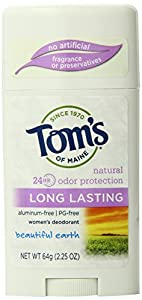 Tom's of Maine Deodorant, Beautiful Earth, 2.25-Ounce Sticks (Pack of 6)
