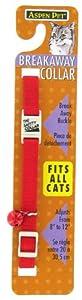 Petmate Adjustable Breakaway Cat Collar, 3/8-Inch, Red