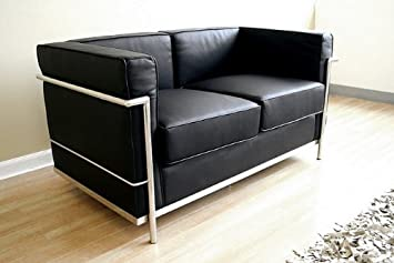 Le Corbusier-style de Petite Leather Loveseat