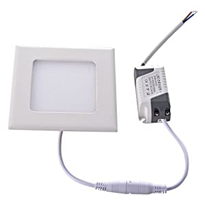 Mudder 4W 2835 SMD LED White Light Square Recessed Ceiling Panel Down Lamp
