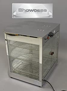 Pizza Food Warmer Display Case - Commercial Merchandiser - Stainless Steel & Tempered Glass
