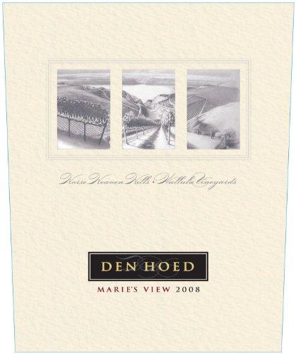 "2008 Den Hoed ""Marie'S View"" Red Blend Horse Heaven Hills Wallula Vineyard 750Ml"