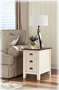 Good Ashley Furniture Signature Design Whitesburg Chair Side End Table Two Tone Ashley Furniture T Review