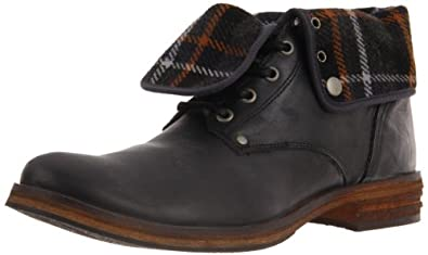 Steve Madden Men's Housston Lace-Up Boot,Black Leather,9 M US