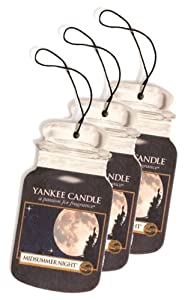 Yankee Candle Car Jar ® Hanging Air Fresheners Mid-Summers Night Scent 3-pack by Yankee Candle