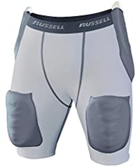 Russell Athletic Men's Football 5-Piece Intergrated Girdle - Hip, Tail & Thigh Padding