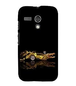 iFasho crocodile animated car Back Case Cover for Moto G
