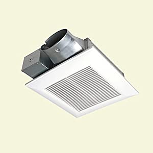 Panasonic whispervalue 80 cfm ceiling or wall super low profile exhaust bath fan energy star for Low profile bathroom exhaust fan