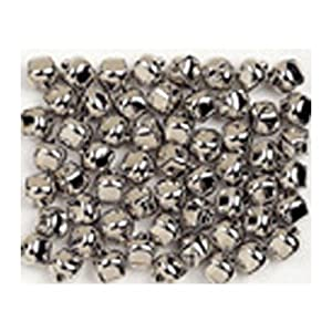 Chenille Kraft Jingle Bells - 15mm Silver - Pack of 72