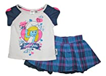 The Smurfs Smurfette Girls Scooter Skirt and Shirt Clothing Set (4/5)