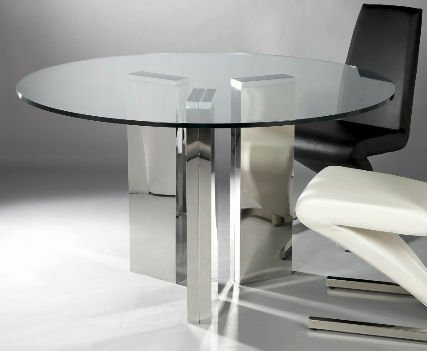 Dining table furniture metal legs dining table for Dining table with metal legs