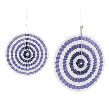Purple Stripe Hanging Fans