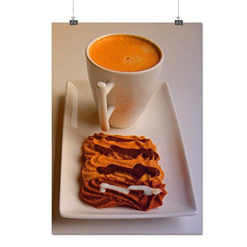 Café Avec Biscuits Aliments Matte/Glacé Affiche A1 (84cm x 60cm)   Wellcoda